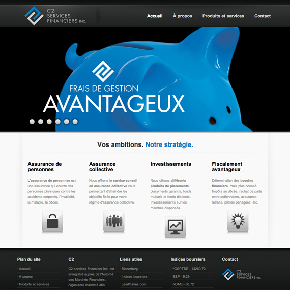 Image miniature du site web C2 Services Financiers