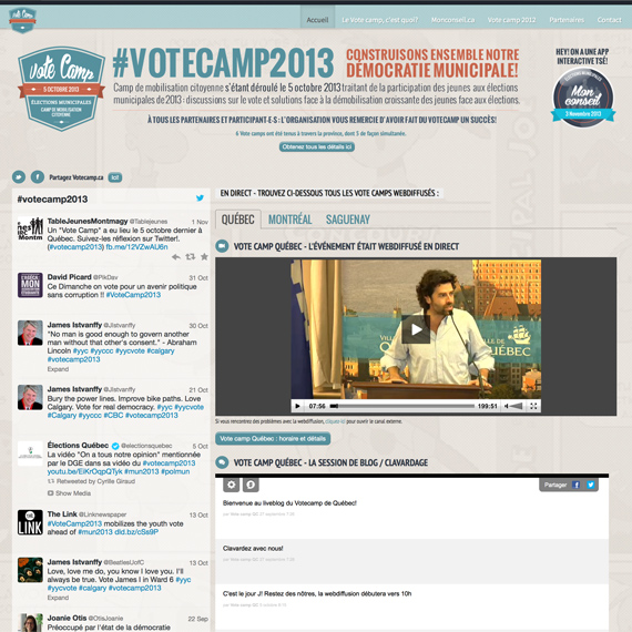 Image miniature du site web du Vote Camp